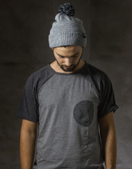 Round Clothing | Berretto Grigio Mélange con pompon