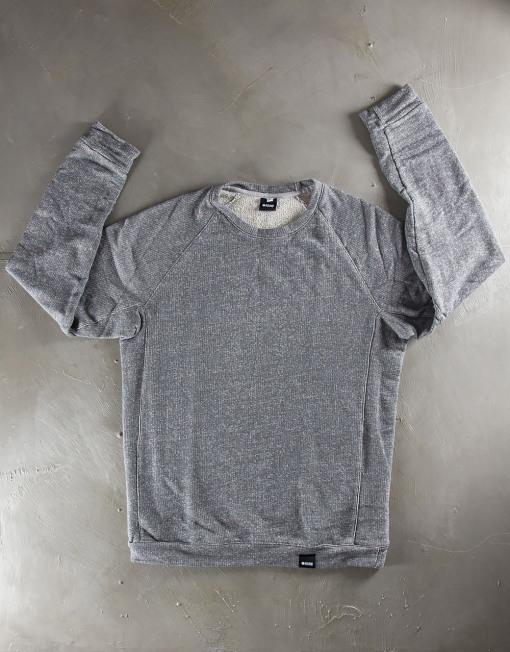 Round Clothing | Felpa Grigia con maniche raglan