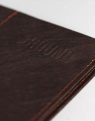Round Clothing | Portafogli in Tyvek Slimfold Wallet Marrone
