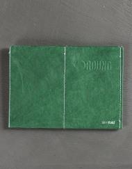 Round Clothing | Portafogli in Tyvek Slimfold Wallet Verde