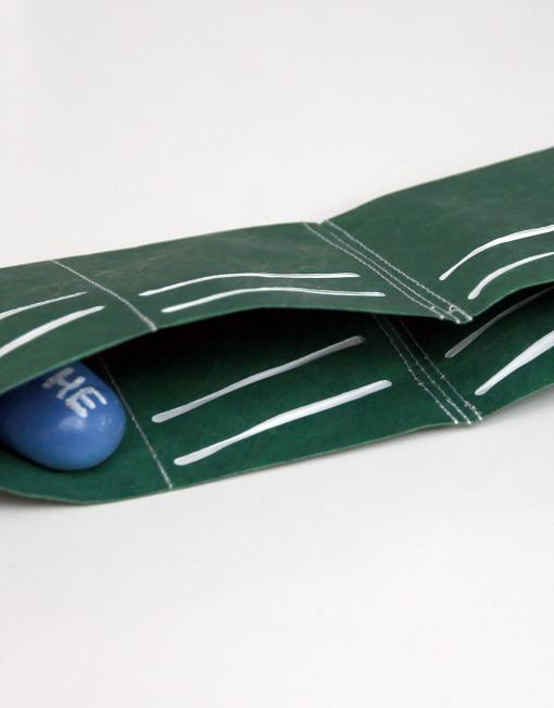 Round Clothing   Portafogli in Tyvek Slimfold Wallet Verde