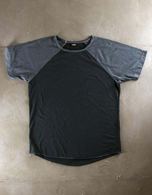 Round Clothing | Basic Collection - T-shirt Blu Navy con maniche raglan Blu