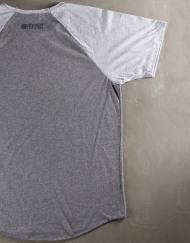 Round Clothing | Basic Collection - T-shirt Grigia con maniche raglan Grigio Chiaro