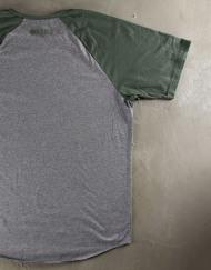 Round Clothing | Basic Collection - T-shirt Grigia con maniche raglan Verdi