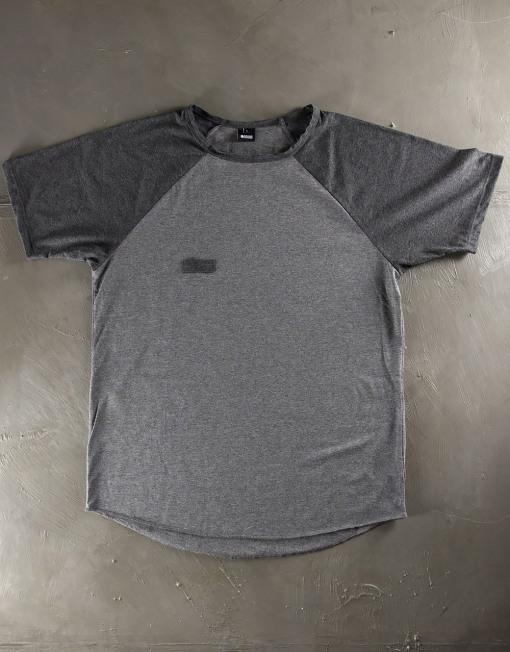 Round Clothing | Bike Collection - T-shirt Grigia con maniche raglan Grigio Scuro