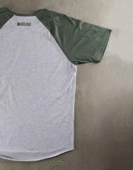 Round Clothing | Logo Collection - T-shirt Grigio Chiaro con taschino tondo Verde