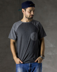 Round Clothing | Logo Collection - T-shirt Grigio Scuro con taschino tondo Grigio