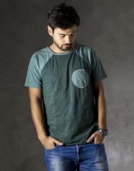 Round Clothing | Logo Collection - T-shirt Verde Scuro con taschino tondo Menta