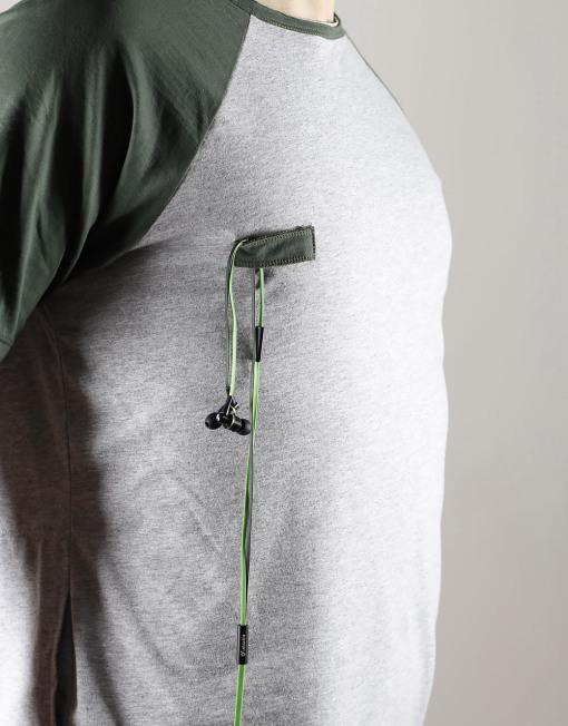 Round Clothing | Bike Collection - T-shirt Grigio Chiaro con maniche raglan Grigie RIDE HARD